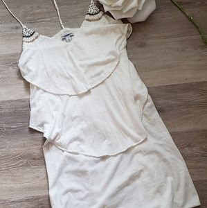 AE Boho Festival Dress Bead Detail T Back Straps